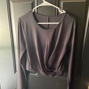 Never worn-Cropped FABLETICS wrap top